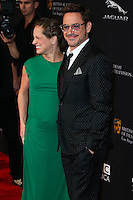 BEVERLY HILLS, CA, USA - OCTOBER 30: Susan Downey, Robert Downey Jr. arrive at the 2014 BAFTA Los Angeles Jaguar Britannia Awards Presented By BBC America And United Airlines held at The Beverly Hilton Hotel on October 30, 2014 in Beverly Hills, California, United States. (Photo by Xavier Collin/Celebrity Monitor)