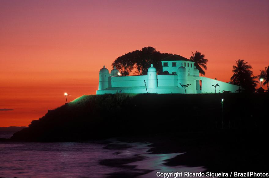 Nossa Senhora de Monte Serrat Fortress ( Forte de Nossa Senhora de Monte Serrat ) in Salvador, Bahia State, northeastern Brazil.