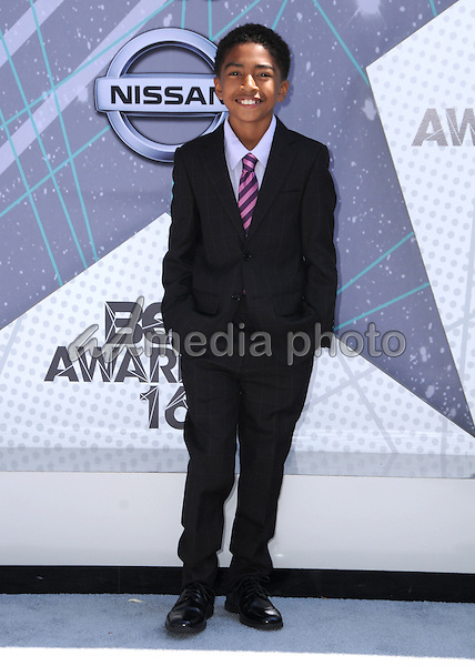 26 June 2016 - Los Angeles. Miles Brown. Arrivals for the 2016 BET Awards held at the Microsoft Theater. Photo Credit: Birdie Thompson/AdMedia