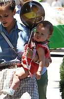 Jessica Alba took her family to a shopping at the posh kids store Bel Bambini in West Hollywood. Jessica, hubby Cash_Warren, Honor_and Haven were spotted leaving the boutique with balloons and a huge gift basket. Los Angeles, California on 23.06.2012..Credit: Correa/face to face.. /MediaPunch Inc. ***FOR USA ONLY*** ***Online Only for USA Weekly Print Magazines*** / Mediapunchinc NORTEPHOTO.COM<br />