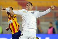 """Miroslav KLOSE Lazio.Lecce 10/12/2011 Stadio """"Via del MAre"""".Football Calcio Serie A 2011/2012.Lecce Vs Lazio.Foto Insidefoto ."""