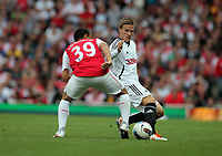 Pictured: Mark Gower of Swansea City in action. Saturday 10 September 2011<br />