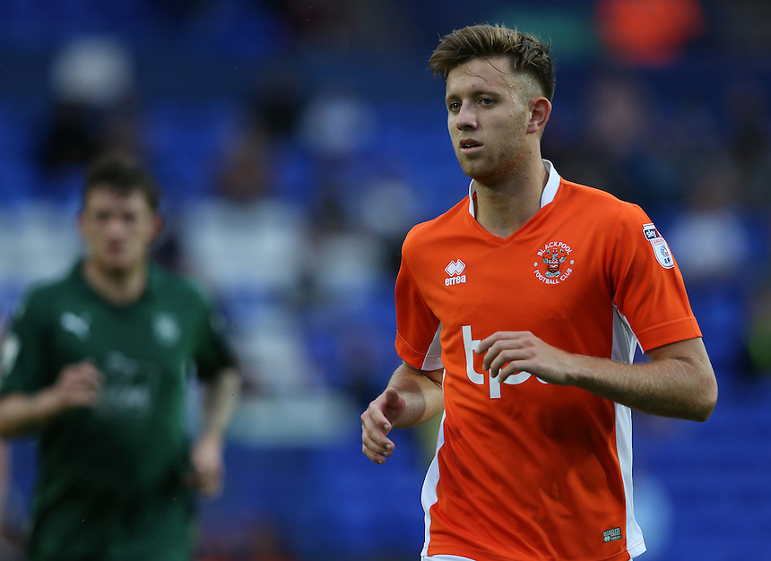 Blackpool's Will Aimson<br /> <br /> Photographer Stephen White/CameraSport<br /> <br /> Football - Pre-Season Friendly - Tranmere Rovers v Blackpool - Tuesday 26 July 2016 - Prenton Park - Birkenhead<br /> <br /> World Copyright &copy; 2016 CameraSport. All rights reserved. 43 Linden Ave. Countesthorpe. Leicester. England. LE8 5PG - Tel: +44 (0) 116 277 4147 - admin@camerasport.com - www.camerasport.com