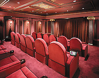Velvet Multi Seat Theater With Hidden Electronics
