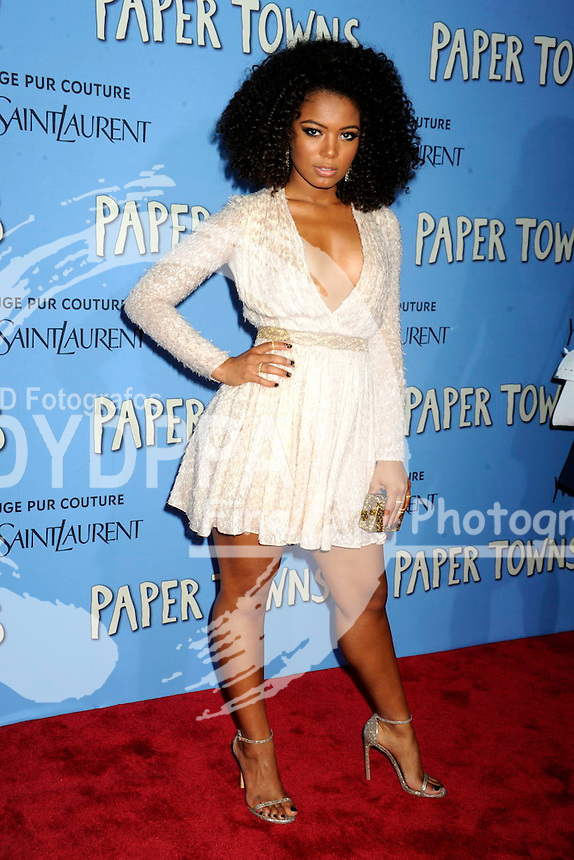 Jaz Sinclair attending the 'Paper Towns' premiere at AMC Loews Lincoln Square on July 21, 2015 in New York Cit