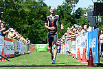 GER - Maxdorf, Germany, June 14: Mathias Pfaehler #4 (LSV Ladenburg) finishes 3rd place at the 12. Maxdorfer Triathlon on June 14, 2015 at TSG Maxdorf in Maxdorf, Germany. (Photo by Dirk Markgraf / www.265-images.com) *** Local caption ***