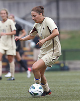 Boston College forward Victoria DiMartino (1) dribbles. After two overtime periods, Boston College tied University of Central Florida, 2-2, at Newton Campus Field, September 9, 2012.