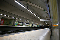"""LISBON, PORTUGAL - March 16: A general view of a subway station on March 16, 2020 in Lisbon, Portugal. <br /> Marcelo Rebelo de Sousa announced that he decided to convene the Council of State for a meeting on Wednesday, at 15.00, to analyze whether or not it is necessary to enact a state of emergency. To be declared, it will be the first time that it will be in force since April 25, 1974. Portugal has 331 confirmed cases at this point, but the Minister of Health admitted on Saturday that the country will enter an """"exponential growth phase of the epidemic"""" (Photo by Luis Boza/VIEWpress/Corbis via Getty Images)"""