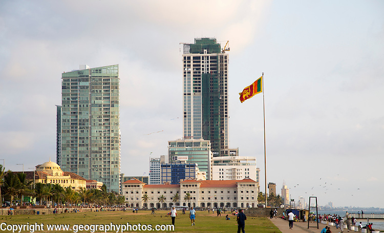High rise buildings Galle Face Green, Colombo, Sri Lanka, Asia