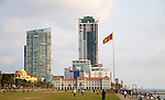 High rise buildings Galle Face Green, Colombo, Sri Lanka, Asia