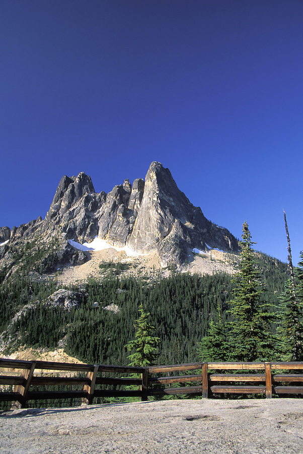 Liberty Bell Mountain and Washington Pass Overlook, North Cascades, Washington
