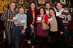 SJ McArdle (Third from left) poses with some of the people who attended Carberry's for the release of his new album 'Blood and Bones'..Picture: Shane Maguire / www.newsfile.ie.