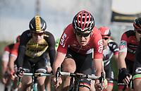 Tiesj Benoot (BEL/Lotto-Soudal)<br /> <br /> 72nd Dwars Door Vlaanderen (1.UWT)<br /> 1day race: Roeselare › Waregem BEL (203.4km)