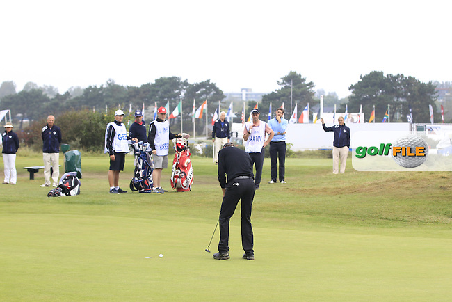 Reiner Saxton (NED) on the 13th during Round 4 of the KLM Open at Kennemer Golf &amp; Country Club on Sunday 14th September 2014.<br /> Picture:  Thos Caffrey / www.golffile.ie