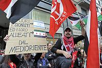 - Milano, manifestazione del 25 aprile, anniversario della Liberazione, contestazione di sostenitori del popolo Palestinese contro la  Brigata Ebraica<br /> <br /> - Milan, demonstration of April 25, anniversary of Italy's Liberation, protest of the Palestinian people supporters against the Jewish Brigade