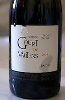 Domaine Gourt de Mautens, Rasteau. Rhone. France Europe. Bottle.