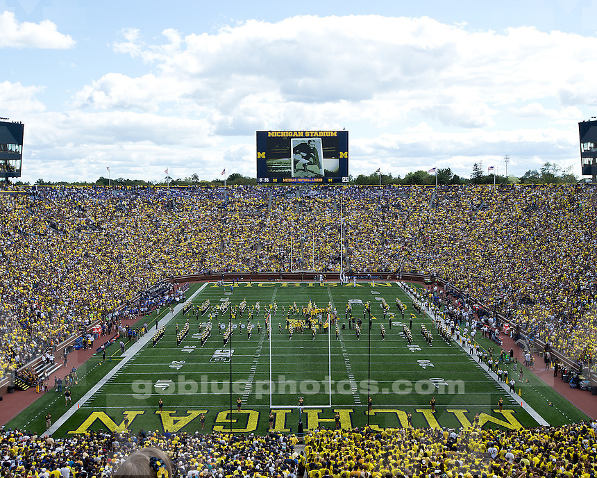 The University of Michigan football team beat Air Force, 31-25, at Michigan Stadium in Ann Arbor, Mich., on September 8, 2012.