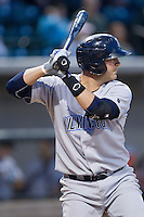 Cam Gallagher (35) of the Wilmington Blue Rocks at bat against the Winston-Salem Dash at BB&T Ballpark on April 3, 2014 in Winston-Salem, North Carolina.  The Blue Rocks defeated the Dash 3-1.  (Brian Westerholt/Four Seam Images)