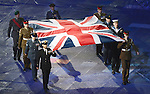 LONDON, ENGLAND 08/29/2012:  The Union Jack enters the stadium during Opening Ceremonies at the London 2012 Paralympic Games in the Olympic Stadium. (Photo by Matthew Murnaghan/Canadian Paralympic Committee)