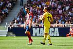 Atletico de Madrid's Juanfran Torres (L) and Jan Oblak (R) during La Liga match. September 15, 2018. (ALTERPHOTOS/A. Perez Meca)
