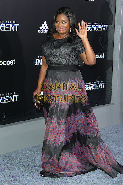 NEW YORK, NY - MARCH 16: Octavia Spencer at the New York premiere of The Divergent Series: Insurgent at the Ziegfeld Theatre in New York City on March 16, 2015. <br /> CAP/MPI/RW<br /> &copy;RW/MPI/Capital Pictures