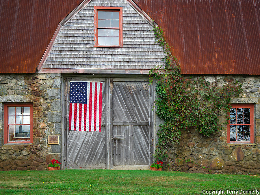 Bar Harbor, Maine:<br /> Historic Stone Barn Farm (1820)