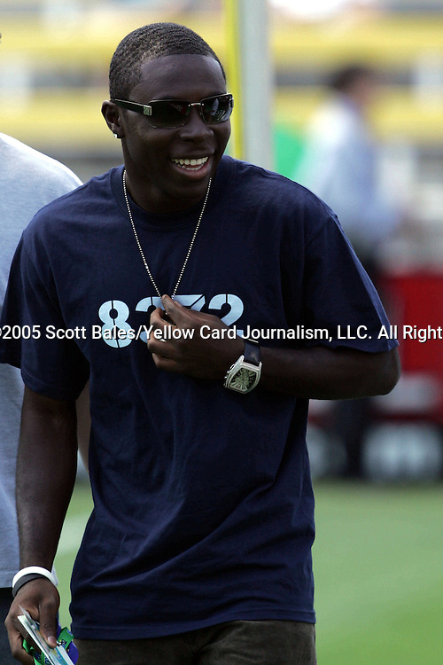 30 July 2005: Major League Soccer's Freddy Adu, pregame. The Major League Soccer All-Stars defeated Fulham 4-1 at Columbus Crew Stadium in Columbus, Ohio in the 2005 Sierra Mist MLS All-Star Game.