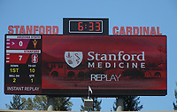Stanford, Ca - Saturday, September 30, 2017: The Stanford Cardinal football team defeated Arizona State 34-24 at Stanford Stadium.