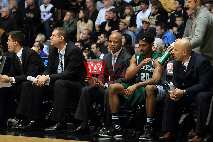 The Eastern Michigan University Men's  Basketball team compete at Purdue. December 10th, 2011