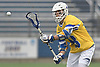 Ryan Tierney #43 of Hofstra University looks a pass into the webbing of his stick during an NCAA Division I men's lacrosse game at Shuart Stadium in Hempstead on Saturday, April 22, 2017. He tallied a goal and two assists in Hofstra's 15-8 win.