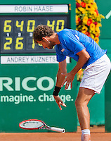 Netherlands, The Hague, Juli 26, 2015, Tennis,  Sport1 Open, Robin Haase (NED) throws his racket.<br /> Photo: Tennisimages/Henk Koster