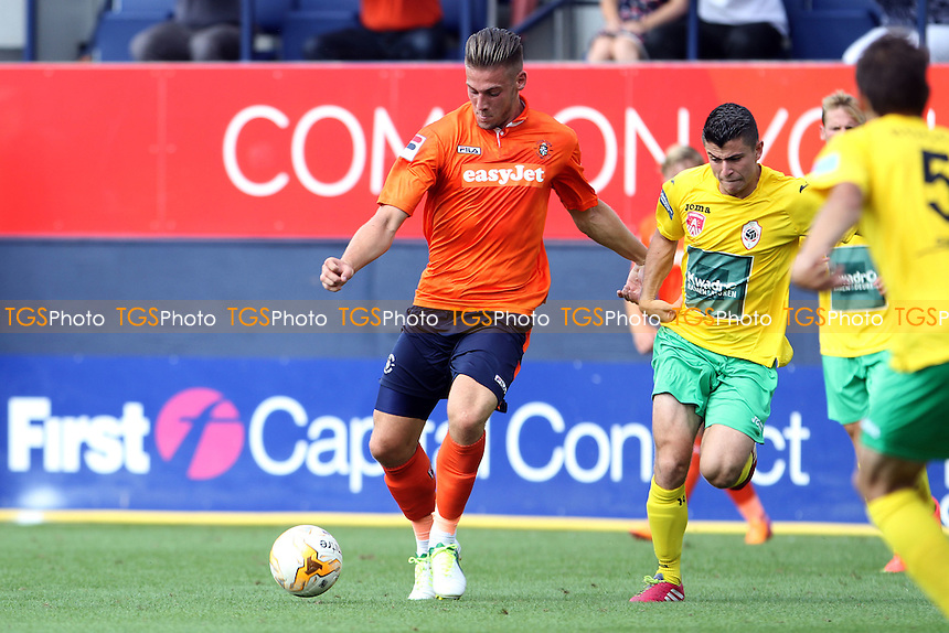 Alex Wall (Luton Town) lines up a shot at goal - Luton Town vs Royal Antwerp - Pre-Season Friendly Football Match at Kenilworth Road, Luton, Bedfordshire - 26/07/14 - MANDATORY CREDIT: Mick Kearns/TGSPHOTO - Self billing applies where appropriate - contact@tgsphoto.co.uk - NO UNPAID USE