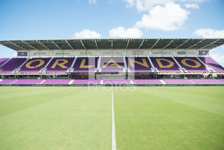Orlando, FL - Saturday October 14, 2017: Orlando City Stadium during the NWSL Championship match between the North Carolina Courage and the Portland Thorns FC at Orlando City Stadium.   The Portland Thorns won the championship, 1-0.