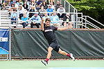 CHAPEL HILL, NC - MAY 13: South Carolina's Thomas Mayronne. The University of North Carolina Tar Heels hosted the University of South Carolina Gamecocks on May 13, 2017, at The Cone-Kenfield Tennis Center in Chapel Hill, NC in an NCAA Division I Men's College Tennis Tournament second round match. UNC won 4-1.