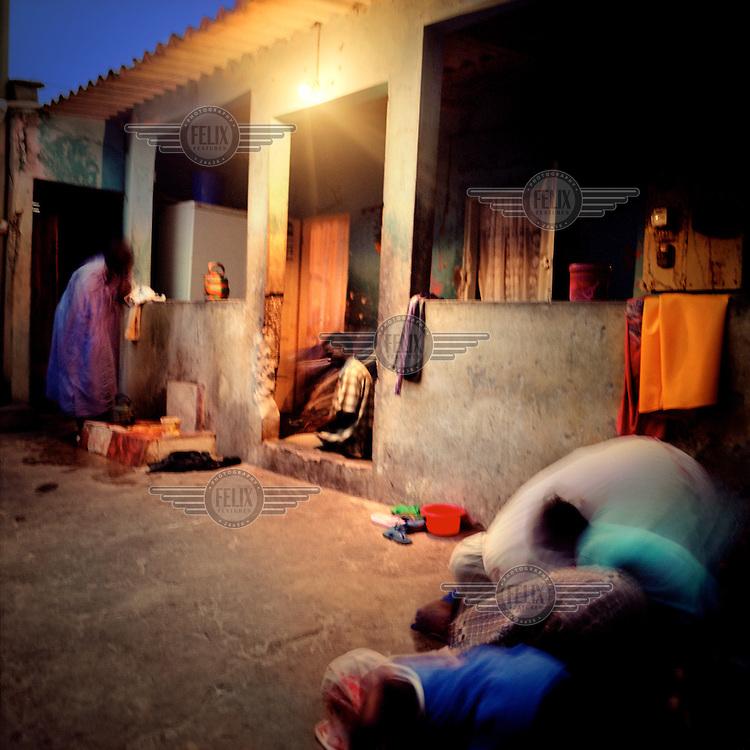 Fishermen pray for a safe return from the seas outside their homes in the Hann Pecheur neighbourhood.