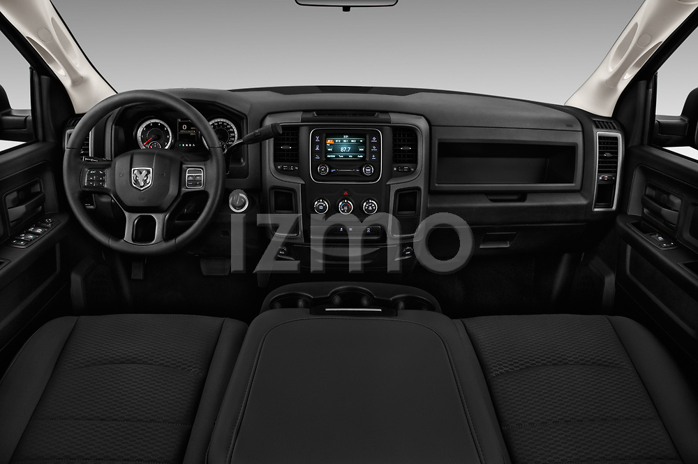 Stock photo of straight dashboard view of a 2017 Ram Ram 2500 Pickup Tradesman 4wd Crew Cab LWB 4 Door Pick Up