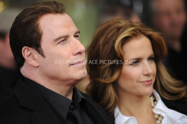 WWW.ACEPIXS.COM . . . . . ....January 28 2010, New York City....Actor John Travolta and Kelly Preston arriving at the 'From Paris With Love' premiere at the Ziegfeld Theatre on January 28, 2010 in New York City. ....Please byline: KRISTIN CALLAHAN - ACEPIXS.COM.. . . . . . ..Ace Pictures, Inc:  ..(212) 243-8787 or (646) 679 0430..e-mail: picturedesk@acepixs.com..web: http://www.acepixs.com