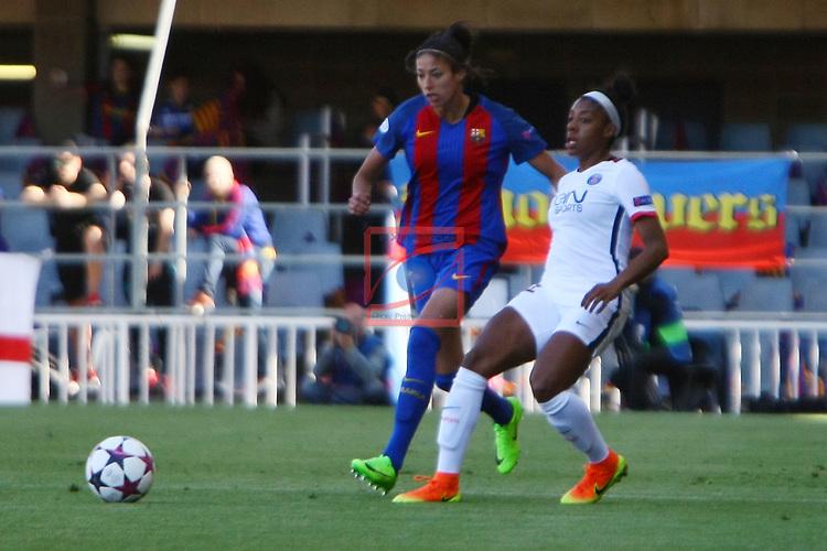UEFA Women's Champions League 2016/2017.<br /> Semifinals.<br /> FC Barcelona vs Paris Saint Germain: 1-3.<br /> Leila Ouahabi vs Ashley Lawrence.