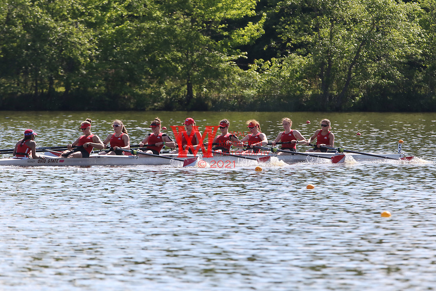 Ohio State University competes during the  2017 NCAA Women's Rowing<br />  Championships held at West Windsor Lake, West Windsor, NJ on Sat. May. 27, 2017.