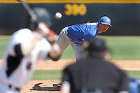 Robby Nesovic #6 of the UC Santa Barbara Gauchos pitches against the Cal State Northridge Matadors at Matador Field on May 11, 2013 in Northridge, California. UC Santa Barbara defeated Cal State Northridge, 6-2. (Larry Goren/Four Seam Images)