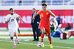 Gao Lin of China (R) is followed by Akhlidin Israilov of Kyrgyz Republic during the AFC Asian Cup UAE 2019 Group C match between China (CHN) and Kyrgyz Republic (KGZ) at Khalifa Bin Zayed Stadium on 07 January 2019 in Al Ain, United Arab Emirates. Photo by Marcio Rodrigo Machado / Power Sport Images