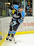 30 October 2010: University of Maine Black Bears' defenseman Ryan Hegarty, a Junior from Arlington, MA, in action against the University of Vermont Catamounts at Gutterson Fieldhouse in Burlington, Vermont. The Black Bears defeated the Catamounts 3-2 in sudden death overtime. Mandatory Credit: Ed Wolfstein Photo