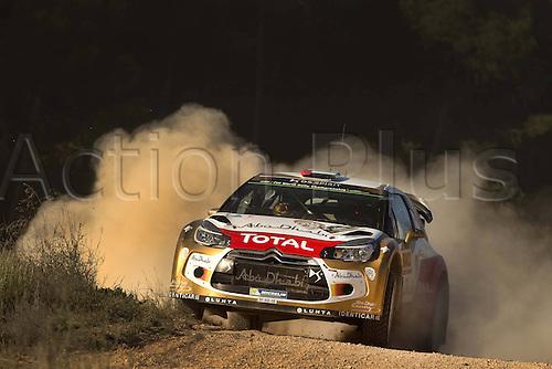 24.10.2014. Catalonia, Spain. WRC Rally of Spain. Khalid Al Qassimi (ABU) and Chris Patersson ( GB) - Citroen DS3 WRC Motorsport