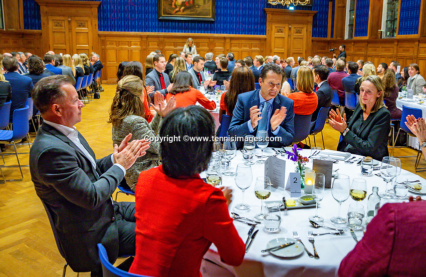 Den Bosch, The Netherlands, Februari 07 2019,  Maaspoort , FedCup  Netherlands - Canada, official dinner<br /> Photo: Tennisimages/Henk Koster