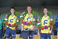 KAATSEN: ARUM: 28-07-2013, Heren Hoofdklasse wedstrijd, Bauke Triemstra, Hendrik Kootstra, Alle Jan Anema, ©foto Martin de Jong