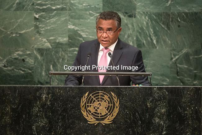 Timor-Leste<br /> H.E. Mr. Rui Maria de Ara&uacute;jo<br /> Prime Minister<br /> <br /> General Assembly Seventy-first session 20th plenary meeting<br /> <br /> General Debate