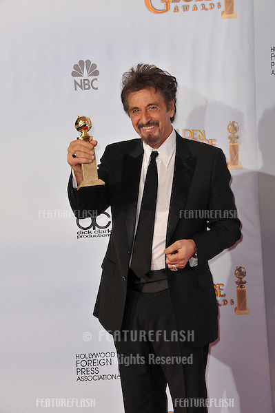 Al Pacino at the 68th Annual Golden Globe Awards at the Beverly Hilton Hotel..January 16, 2011  Beverly Hills, CA.Picture: Paul Smith / Featureflash