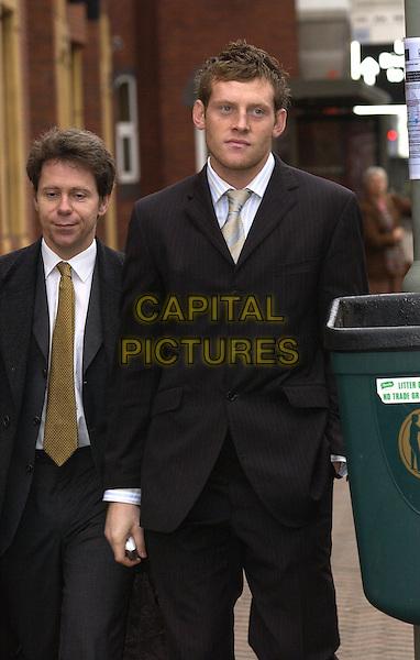 "GRAHAM STACK.Arriving at Bromley Magistrates Court, Bromley, Kent..""Appledore"" Ash Road, Hartley, Kent. DA3 8LW..November 23rd, 2003.half length, walking, black suit, footballer.www.capitalpictures.com.sales@capitalpictures.com.© Capital Pictures."