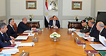 Egyptian President Abdel Fattah al-Sisi meets with Egyptian Prime Minister Sharif Ismail, in Cairo, Egypt, on March 4, 2017. Photo by Egyptian President Office