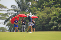 Marina Alex (USA) in action on the 18th during Round 3 of the HSBC Womens Champions 2018 at Sentosa Golf Club on the Saturday 3rd March 2018.<br /> Picture:  Thos Caffrey / www.golffile.ie<br /> <br /> All photo usage must carry mandatory copyright credit (&copy; Golffile   Thos Caffrey)